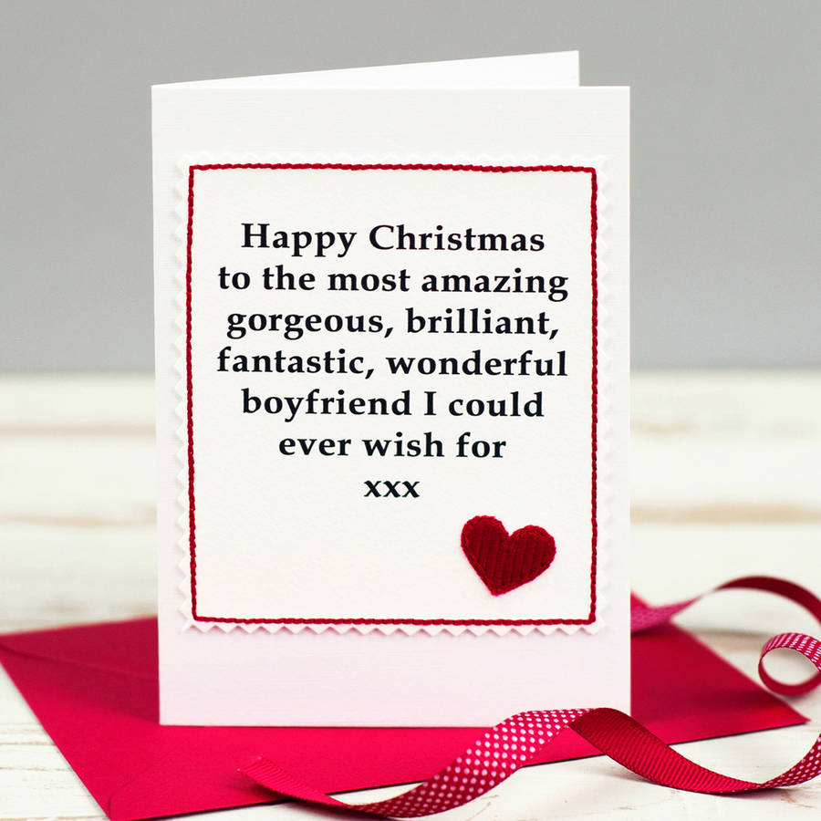 Christmas Card For Husband Or Boyfriend By Jenny Arnott