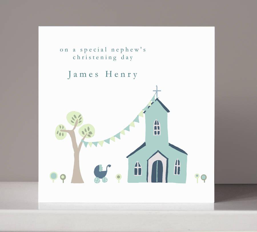 Christening Card Design