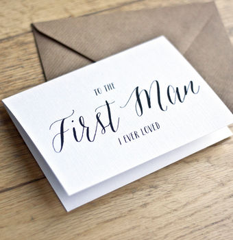 Download 'to the first man i ever loved' wedding day card by emma ...