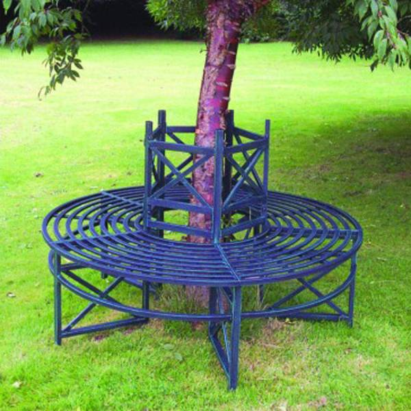 steel roundabout garden bench blenheim tree bench by garden selections