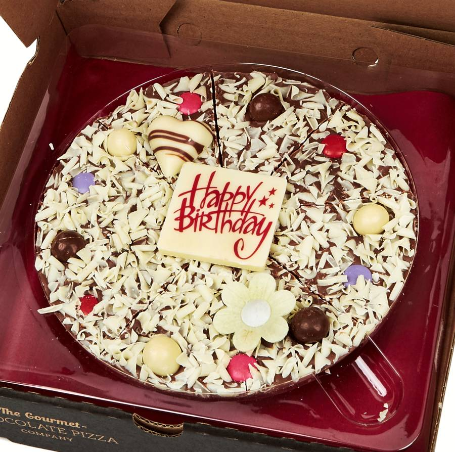 Girl Happy Birthday Chocolate Pizza By The Gourmet