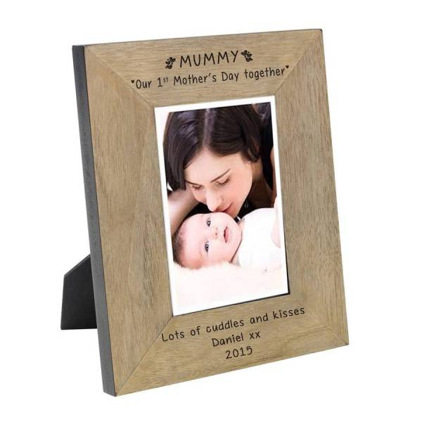 engraved 1st mother's day together photo frame by babyfish ...