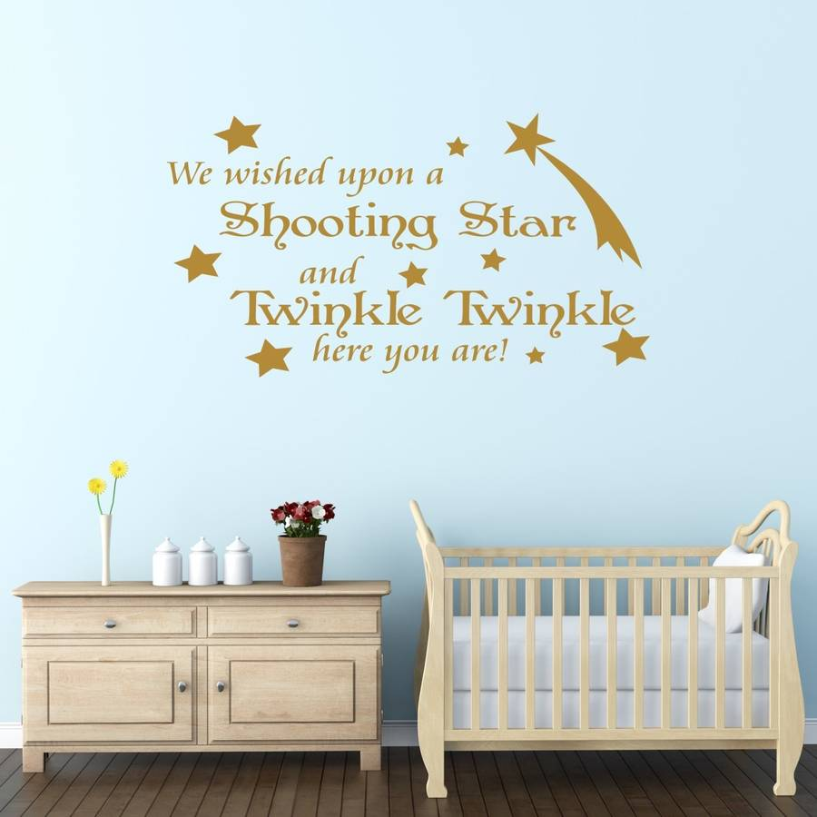 Babys Nursery Quote Wall Sticker By Mirrorin
