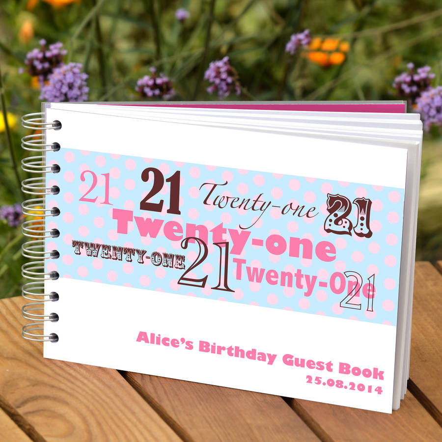 Personalised 21st Birthday Guest Book By Amanda Hancocks