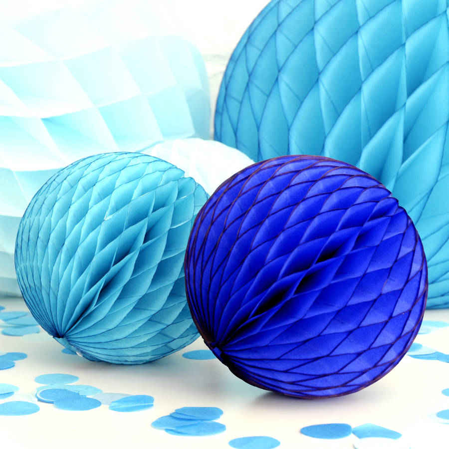 Boy Baby Shower Blue Paper Ball Collection By Peach Blossom