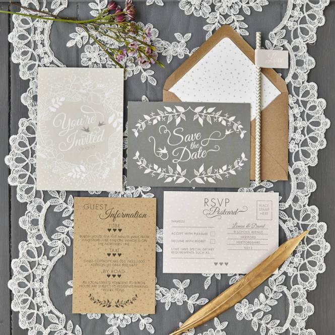 Rustic Fl Wedding Invitation With Purple Dahlias