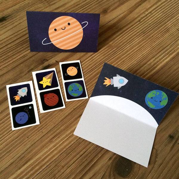 solar system space gift wrap set by asking for trouble ...