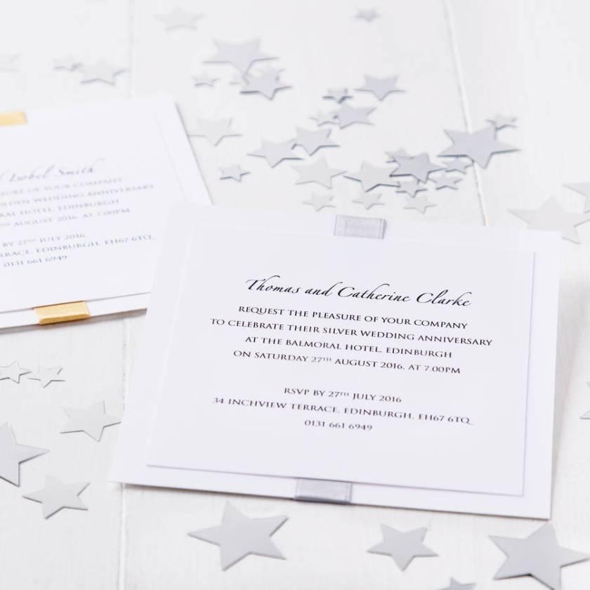 Silver Wedding Anniversary Elegance Invitation