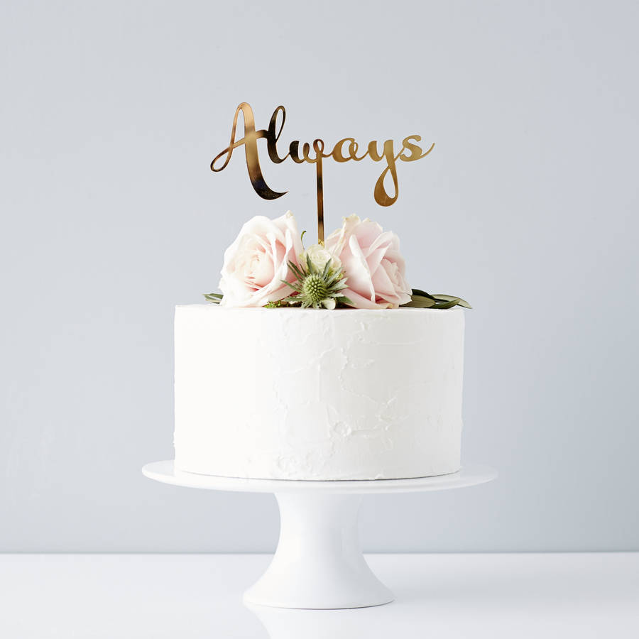 calligraphy always wedding cake topper by sophia victoria joy     Calligraphy Always Wedding Cake Topper