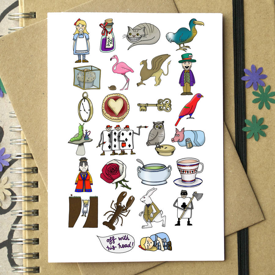 Alice In Wonderland Alphabet Card By Becka Griffin