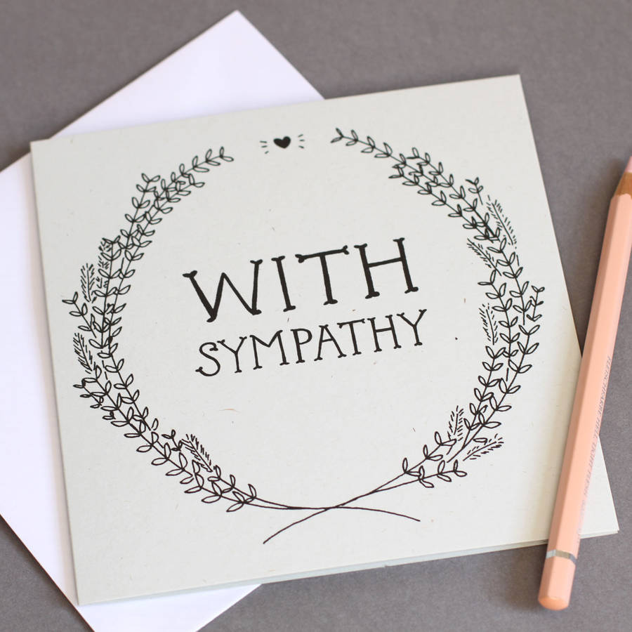 With Sympathy Card By Wolf Whistle