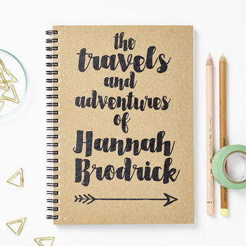 Personalised Travel And Adventure Journal