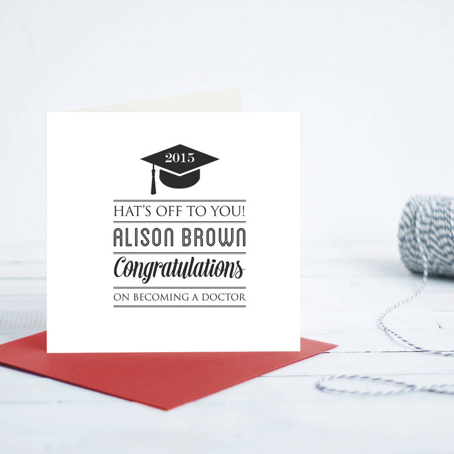 Graduation Personalised Card By Quirky Gift Library