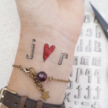Spell Your Own Temporary Tattoo cheap gift ideas for teen girls