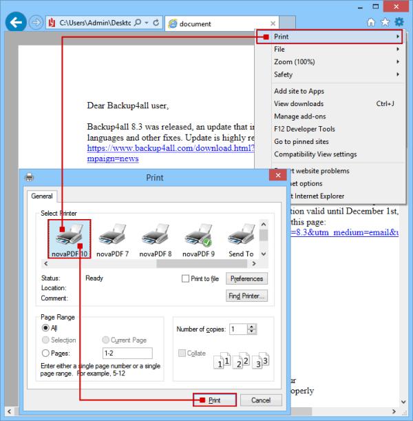 Convert XPS/OXPS to PDF - novaPDF