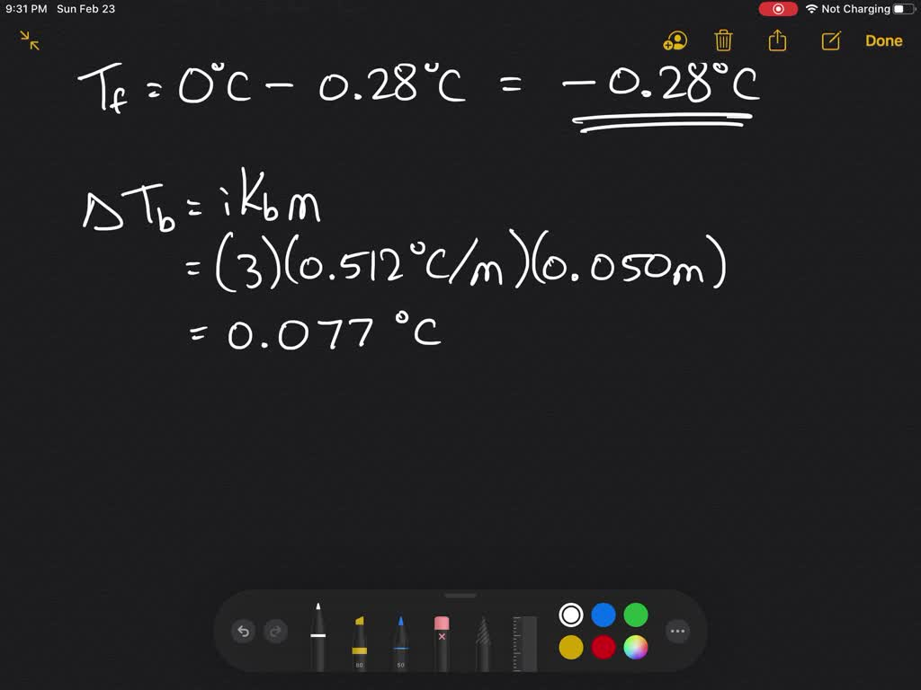 Calculate The Freezing Point And The Boiling Poin