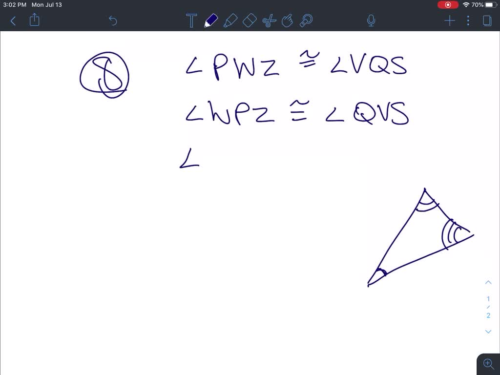 Solved Identify The Congruent Angles And Sides An