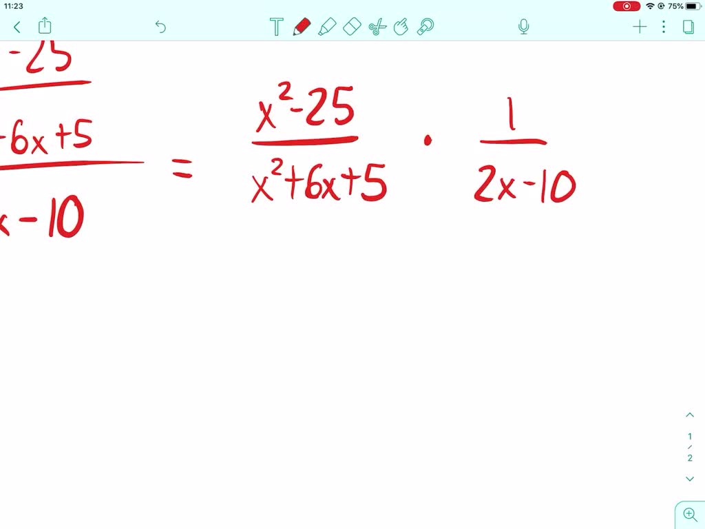 Solved Factor The Numerator And The Denominator