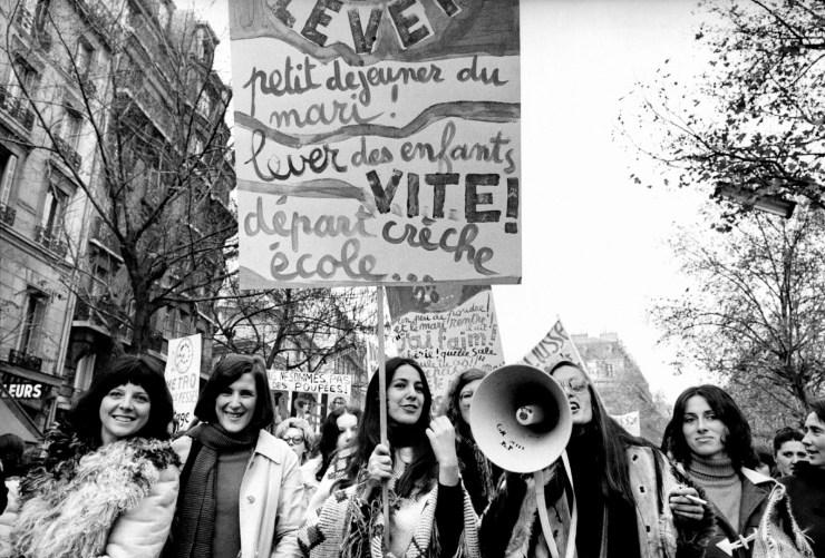 A women's liberation demonstration, Paris, 1971