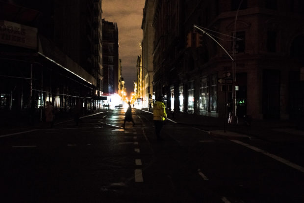 The 2003 blackout in New York City. (Photo courtesy of Dan Nguyen/Flickr)