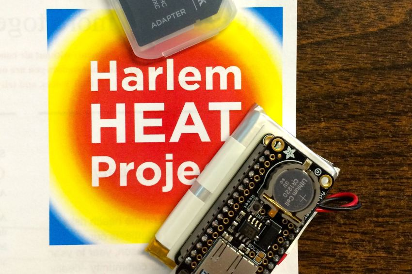 The Harlem Heat Ambassadors received training in how to use their brand new heat sensors at the WEACT offices in Harlem on Saturday. (Kathleen Culliton)