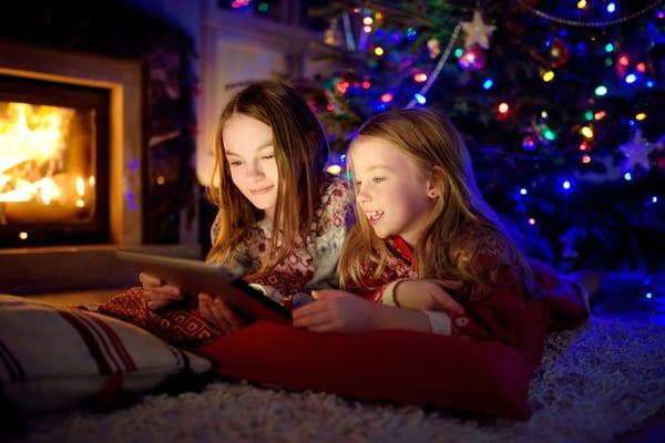 Sisters enjoying Christmas shows