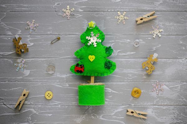 Green Felt Christmas Tree Decoration