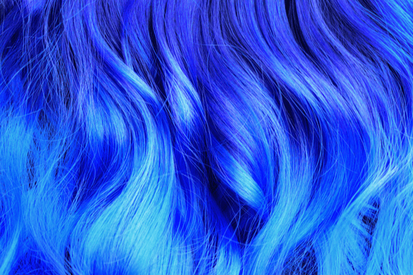 Getting stains from your blue hair.