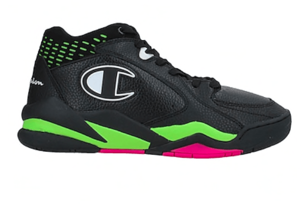 Champion shoes Green, Pink and Black High-tops