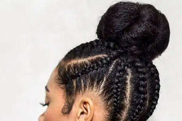 Updo cornrow is the trendiest hairstyle of 2021