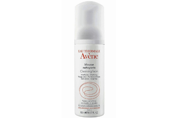 Avene Mattifying Cleansing Foam for a clean and matte look.