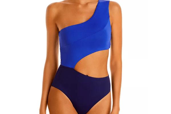 Vilebrequin Asymmetric Colorblock One Piece Swimsuit