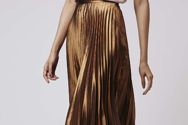 Bronze color skirts for office.