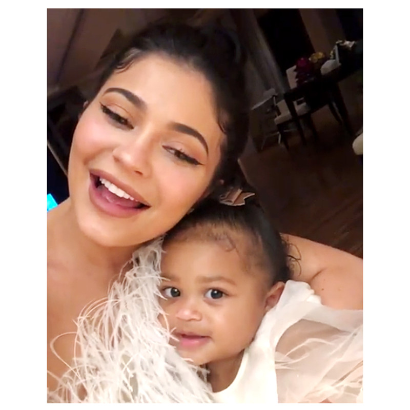 Kylie Jenner And Daughter Spotted in Adorable Blue Matching Dresses (Photos)