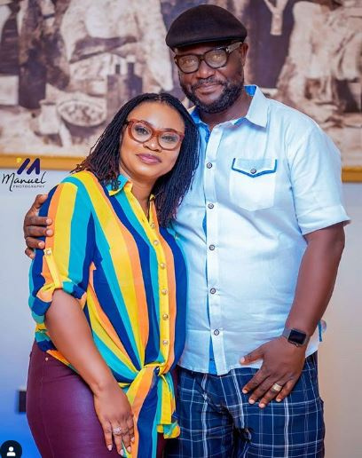 Charlotte Osei with her husband