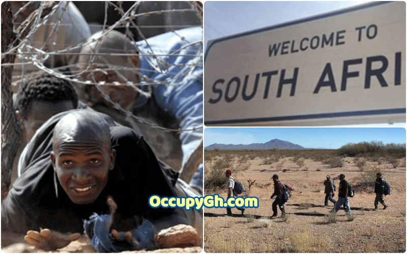 south africa border welcome signs