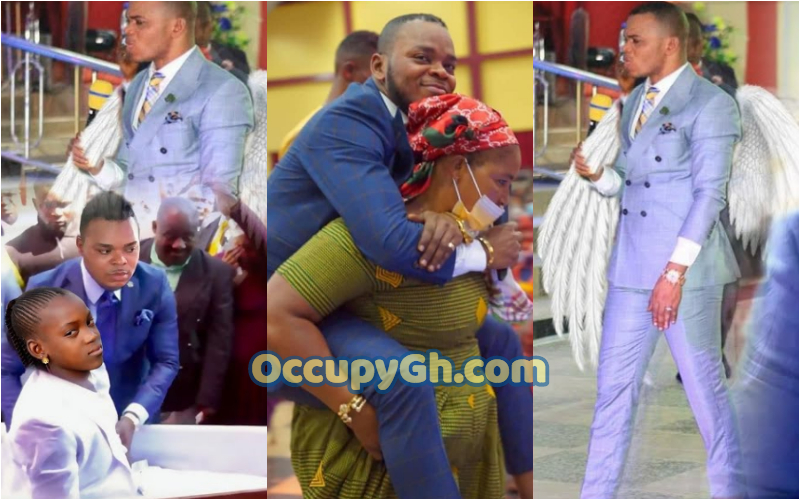 Obinim Removes spiritual Bullet From Lady head