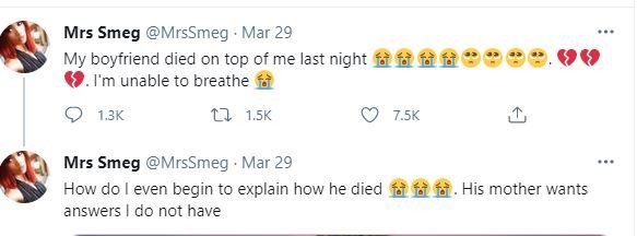 Boyfriend died making love girlfriend