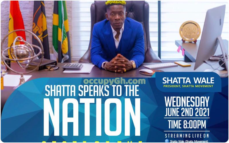Shatta Wale nation address