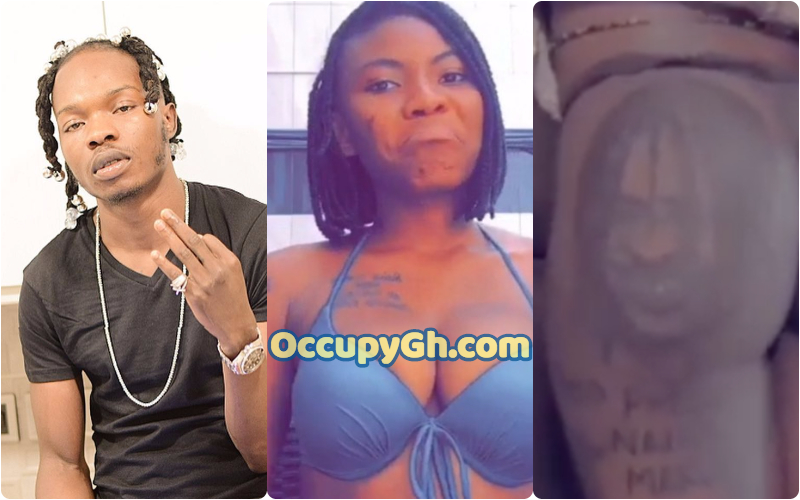 lady tattoos naira marley face on duna