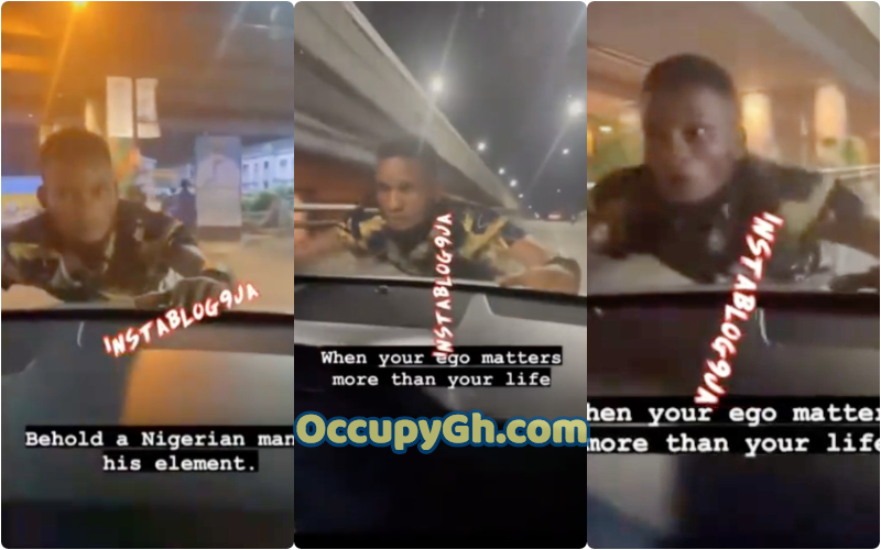 Man hangs Lady Car