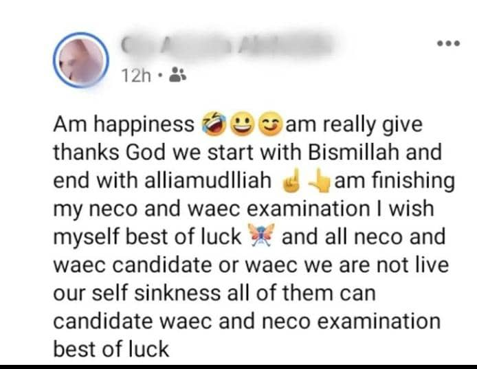 am happiness waec student