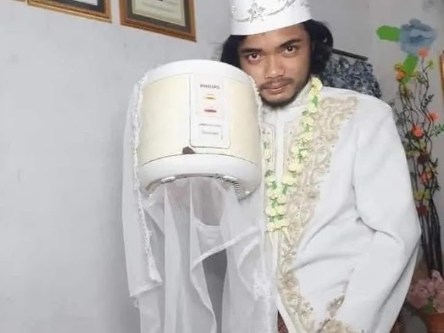 man married rice cooker 2