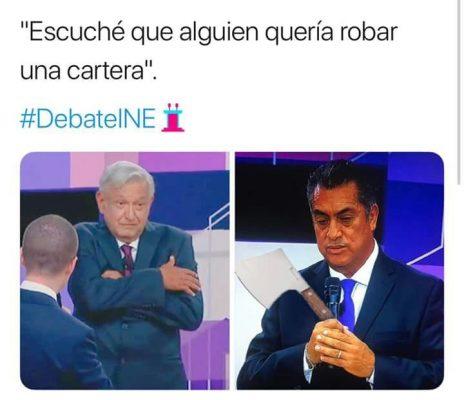 Resultado de imagen para memes del segundo debate presidencial