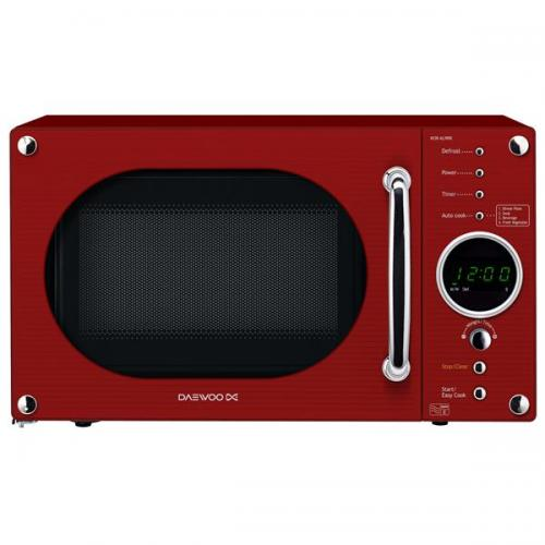 daewoo kor6n9rr 20 litre 800w touch control retro style microwave oven glossy red kor6n9rr