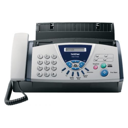 Brother Fax T104 Thermal Fax Machine White Faxt104u1 Ba63040