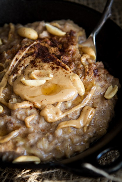 Early Morning Peanut Butter Banana Oatmeal — Oh She Glows
