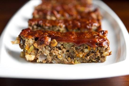 Vegan Holiday Main Dish Recipes, Lentil Loaf