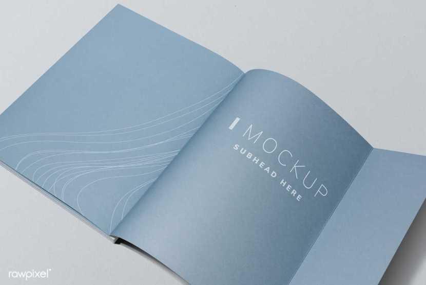 Mockup de revista diseño gráfico