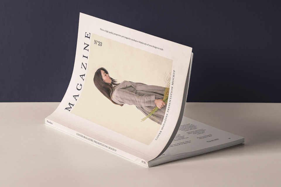 Mockup gratis de Cubierta de revista